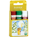 holiday gift 3-pack of lip balms - gold box