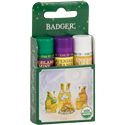 holiday gift 3-pack of lip balms - green box