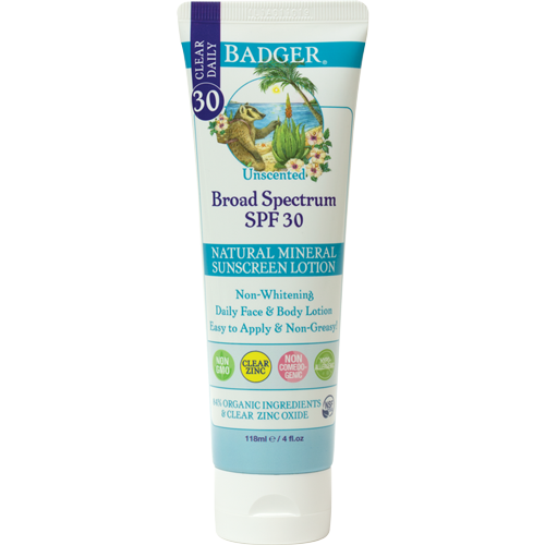 W - SPF 30 Clear Zinc Sunscreen Lotion - Unscented