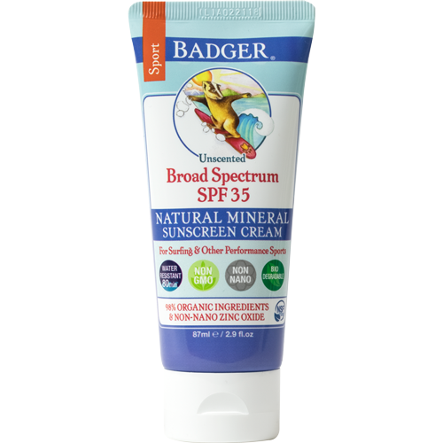 Badger Sport Sunscreen - Water Resistant SPF 35