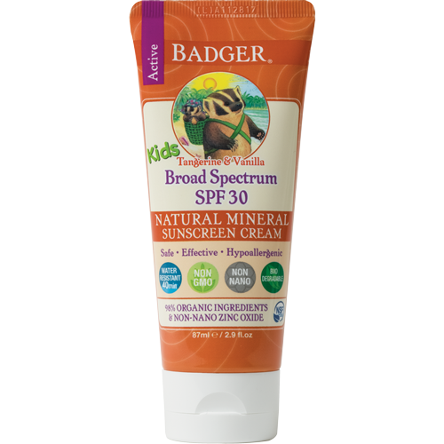 Kids Sunscreen Cream SPF30: Safe, Effective, Natural & Organic