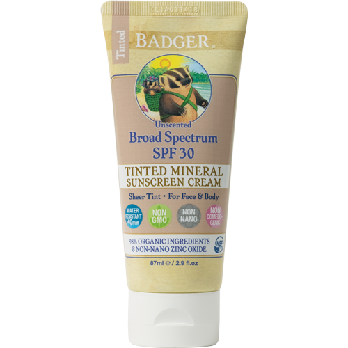 tinted organic sunscreen protection